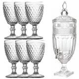 Conjunto Suqueira Ruby 1,8L e 6 Taças Diamond Transparente - Bela home