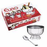 Conjunto Taças Para Sobremesa Inox 12 peças - Euro