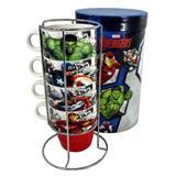 Conjunto Torre de canecas Avengers 250ml - Zona criativa