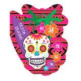Convite de Aniversário Caveira Mexicana 08 unidades Duster - Festabox