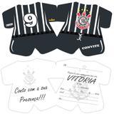Convite de Aniversário Corinthians 08 unidades - Festabox