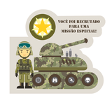 Convite de Aniversário Festa Militar 08 unidades Duster - Festabox