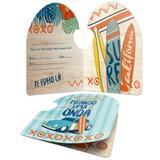 Convite de Aniversário Festa Surf 8 unidades Junco - Festabox