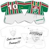Convite de Aniversário Fluminense 08 unidades - Festabox
