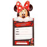 Convite de Aniversário Grande Minnie Vermelha 08 unidades Regina Festas