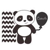 Convite de Aniversário Panda 08 unidades Duster - Festabox