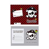 Convite de Aniversário Pirata 08 unidades Novocard - Regina festas