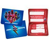 Convite de Aniversário Power Rangers 08 unidades Regina Festas - Festabox