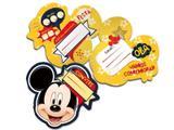Convite de Festa de Aniversário do Mickey - kit com 8 unid - Regina