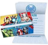 Convite Os Vingadores / Avengers - Regina festas