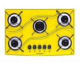Cooktop 5 bocas amarelo lines safanelli