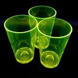 Copo 360ml Acrílico - Drink Cerveja Festa Balada Drink Cup NEON Amarelo kit com 10 copos - Fábrica de utilidades