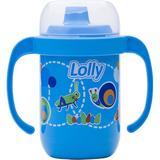 Copo Antivaz. C/Alça 250 ML Azul - Lolly baby