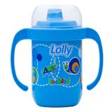Copo Antivazamento com Alça 250ml Azul - Lolly