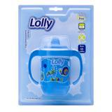 Copo Antivazamento Zoo com alça 250ml na cor azul, indicado às crianças acima de 18 (dezoito) meses. - Lolly (lolni)