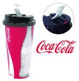 Copo com tampa flip de plastico coca cola 700ml - Plasutil