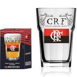 Copo de Cerveja Personalizada Flamengo CRF Vidro 400ml - Globimport