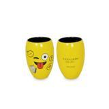 Copo de suco de cerâmica mondoceram diverticon profissões psicologia 400ml-amarelo - Mondoceram gourmet