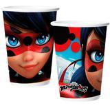 Copo Descartável Miraculous Ladybug 08 unidades Regina Festas