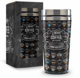Copo inox térmico - neutros - menu coffee - Brasfoot
