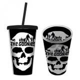 Copo Plástico com Tampa e Canudo WB Goo Skull Head 500ml Caveira Urban Preto