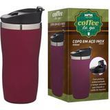Copo Térmico Aço Inox 450ml Coffee To Go Rosa - Mor