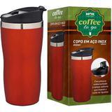 Copo Térmico Aço Inox 450ml Coffee To Go Vermelho - Mor