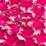 Coroa Acrilico - Pink -  Unidade - Tok bijouxs
