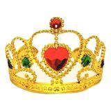 Coroa Princesa Rainha Dourado - Brbrinq
