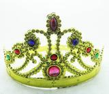 Coroa Tiara Bloco Carnaval Dourado Festa Fantasia Princesa Infantil (BSL-2653-4) - Braslu