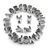 Cortador de Biscoito e Massas Alfabeto Letras em Inox 26 Peças - Carisma