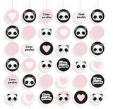 Cortina Decoração Festa Aniversário Infantil 6 Cordões Panda - Cromus