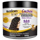 Creme ativador de cachos Salonline reconstrução 500gr (Emb. contém 3un.) - Salon line