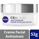 Creme Facial Nivea Cellular Antissinais Dia FPS 30 52g