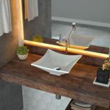 Cuba de Apoio para Banheiro L30 Lux Quadrada Folha Compace Branco