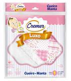 Cueiro Manta De Flanela - Cremer Menina - Rosa - 80x80cm