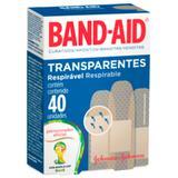 Curativo Adesivo Transparente Band Aid Caixa com 40 Unidades - Band-aid
