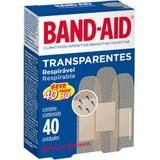 Curativo band aid transp 40un pague 30u