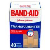 Curativo band-aid transparente 40 unidades - Johnson johnson