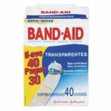 Curativo Band-Aid Transparente Johnsons 40 Unidades