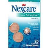 Curativos 3m Nexcare Micropore Redondo 20 unidades - 3m do brasil