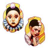 Decoração de Carnaval Kit Pierrot e Colombina Festança - Festabox