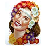 Decoração de Carnaval Painel Hawaiana Artes Decorativas - Festabox