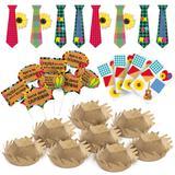 Decoração Festa Junina Kit Com Gravatas Chapéus Plaquinhas - Cromus
