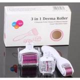 Dermaroller 3 em 1 Derma Roller System  Microagulhamento - Drs derma roller system