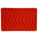 Descanso de assadeira de silicone vermelho 21X14CM - 25780 - Utilflex