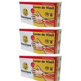 Descarpack Luvas P/ Procedimentos Vinil C/ Talco G C/100 (Kit C/03)