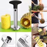 Descascador e fatiador de abacaxi aço inox - profissional 24 cm - Keita