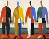 Desportistas - Kazimir Malevich - Tela 50x62 Para Quadro - Santhatela