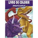 Dinossauros: Col. Livro de Colorir c/ 80 páginas - Blu